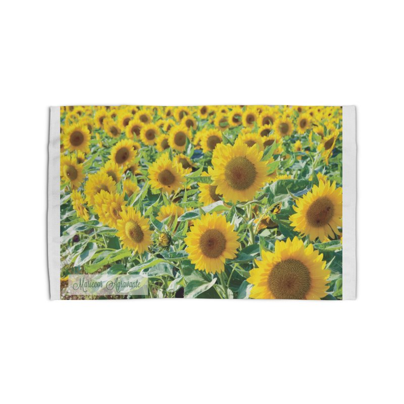 Landscape Sunflower Field Home Rug by MariecorAgravante's Artist Shop