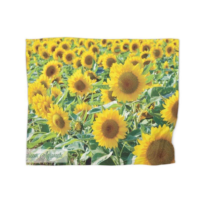 Landscape Sunflower Field Home Blanket by MariecorAgravante's Artist Shop