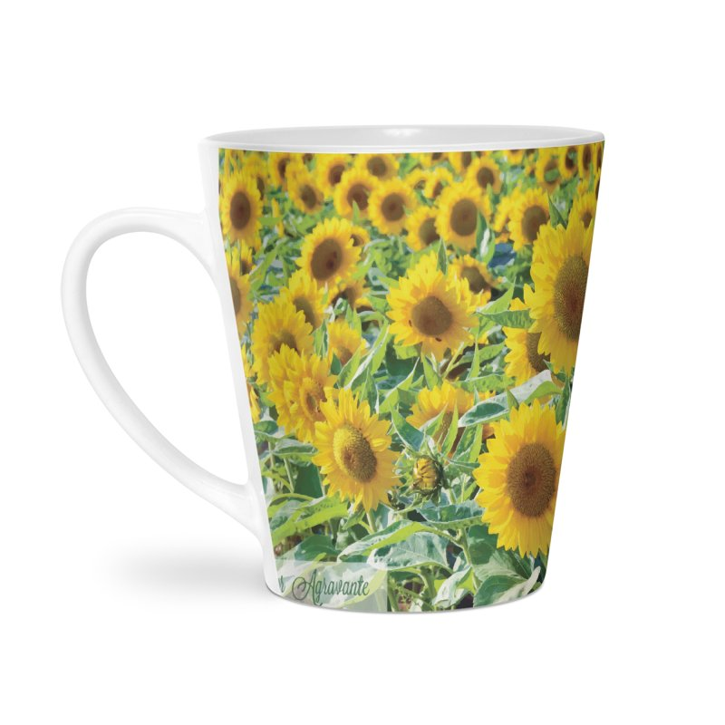 Landscape Sunflower Field Accessories Latte Mug by MariecorAgravante's Artist Shop