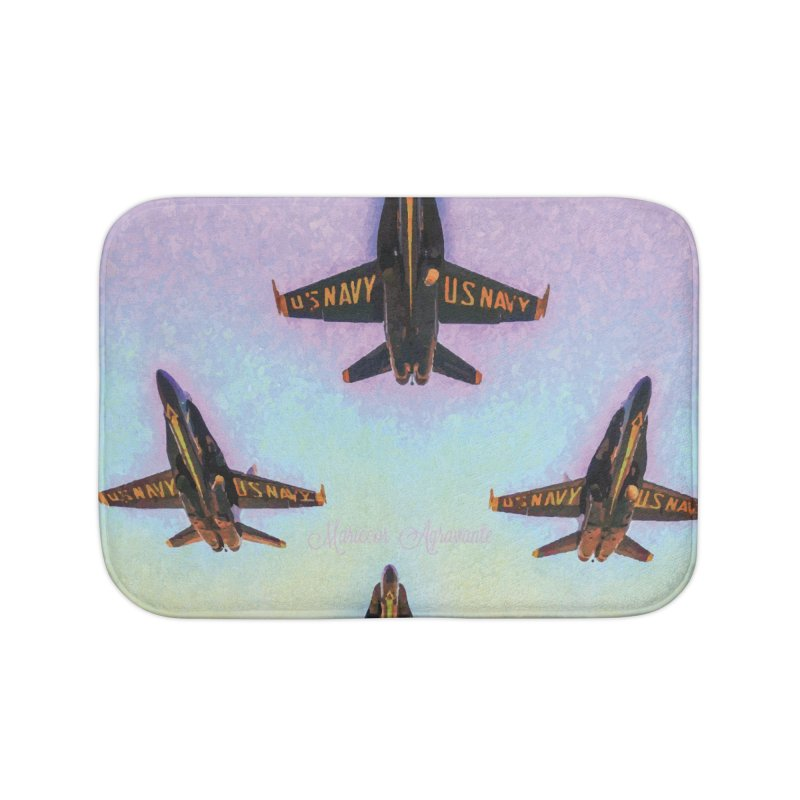 Blue Angels Squadron Home Bath Mat by MariecorAgravante's Artist Shop