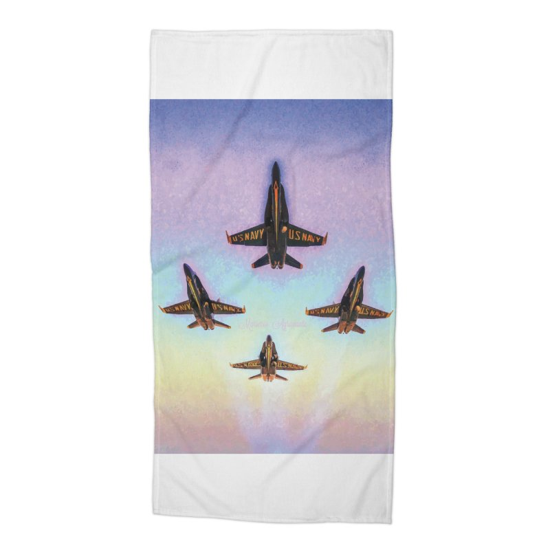 Blue Angels Squadron Accessories Beach Towel by MariecorAgravante's Artist Shop