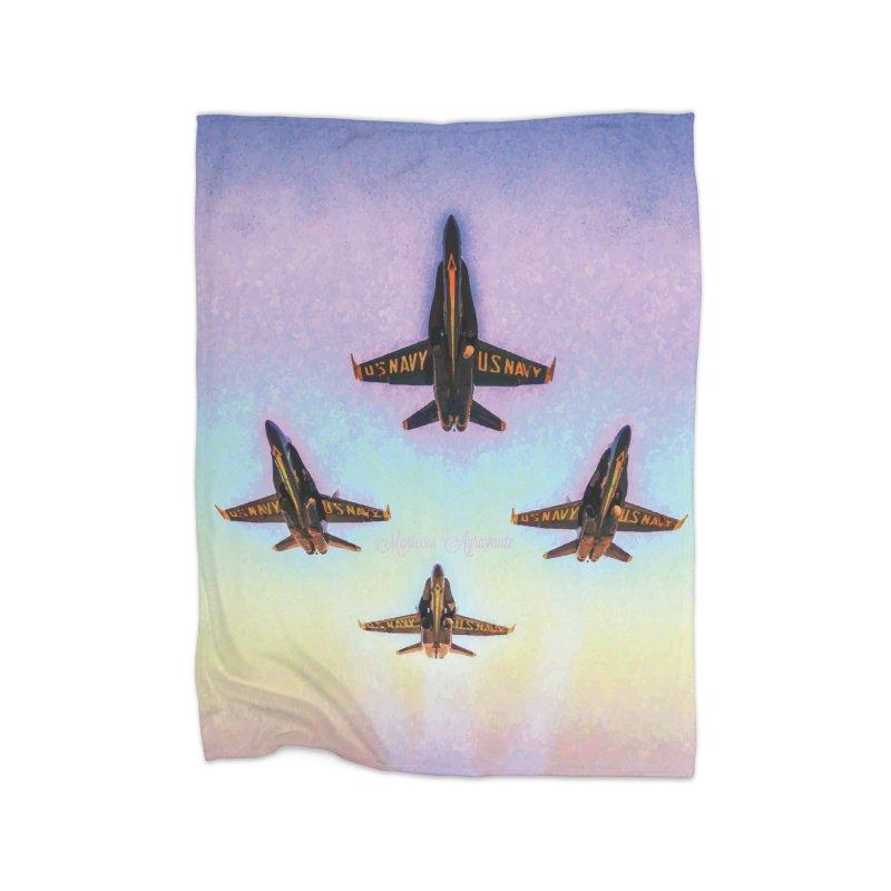 Blue Angels Squadron Home Fleece Blanket Blanket by MariecorAgravante's Artist Shop