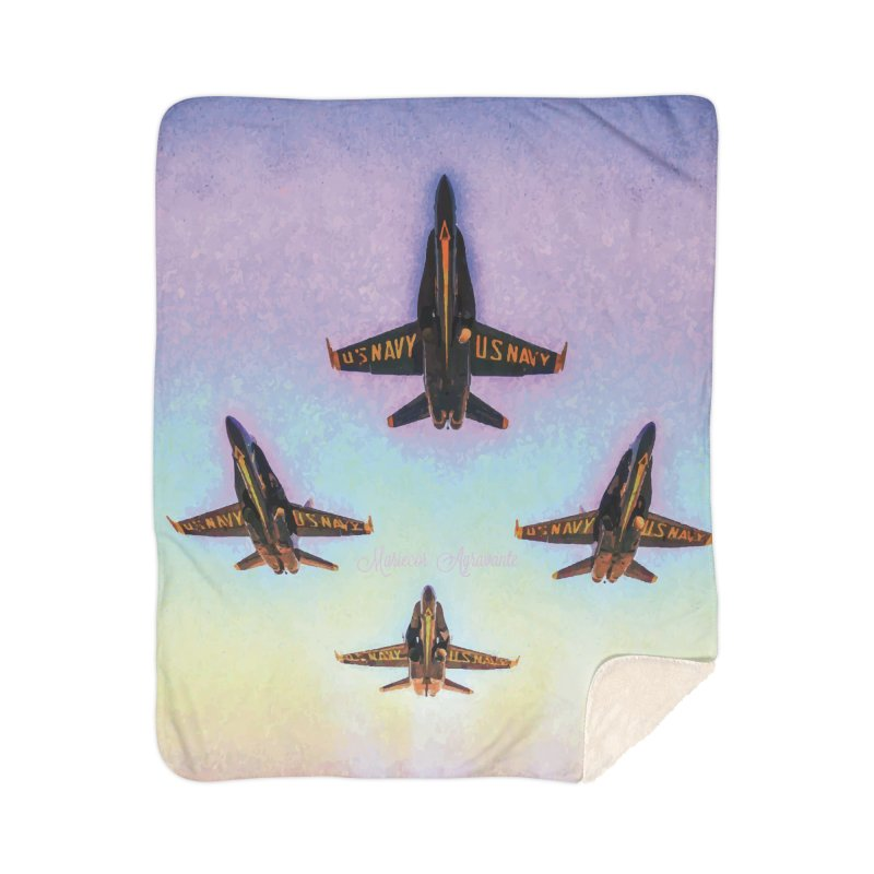 Blue Angels Squadron Home Sherpa Blanket Blanket by MariecorAgravante's Artist Shop