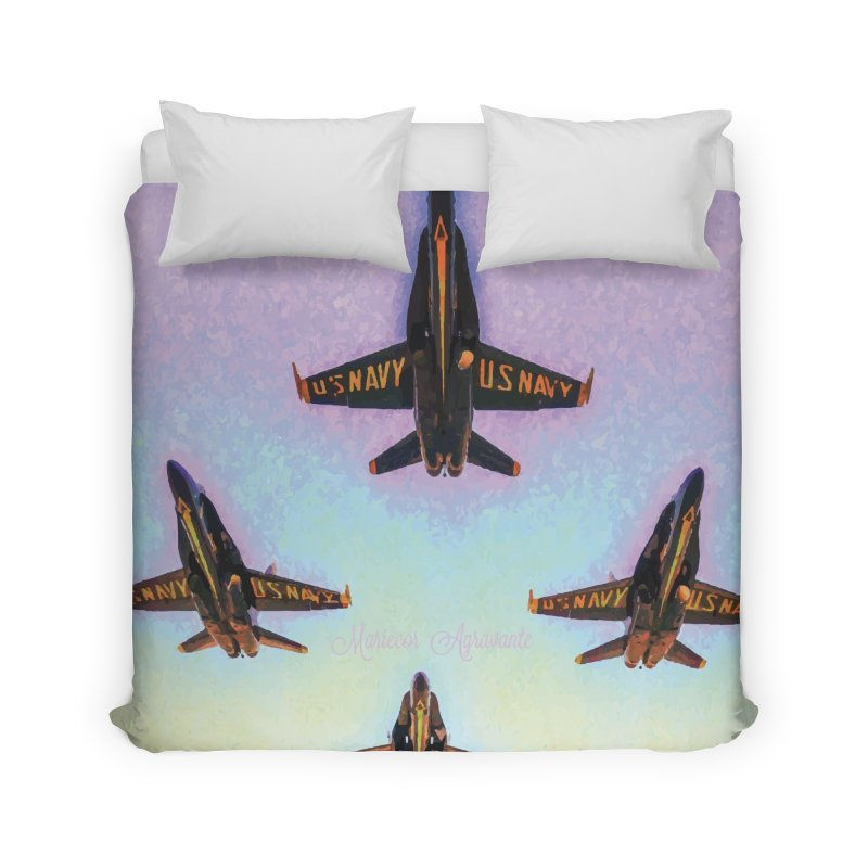 Blue Angels Squadron Home Duvet by MariecorAgravante's Artist Shop