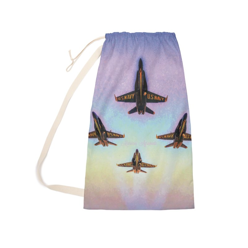 Blue Angels Squadron Accessories Laundry Bag Bag by MariecorAgravante's Artist Shop