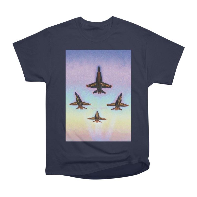 Blue Angels Squadron Men's Heavyweight T-Shirt by MariecorAgravante's Artist Shop