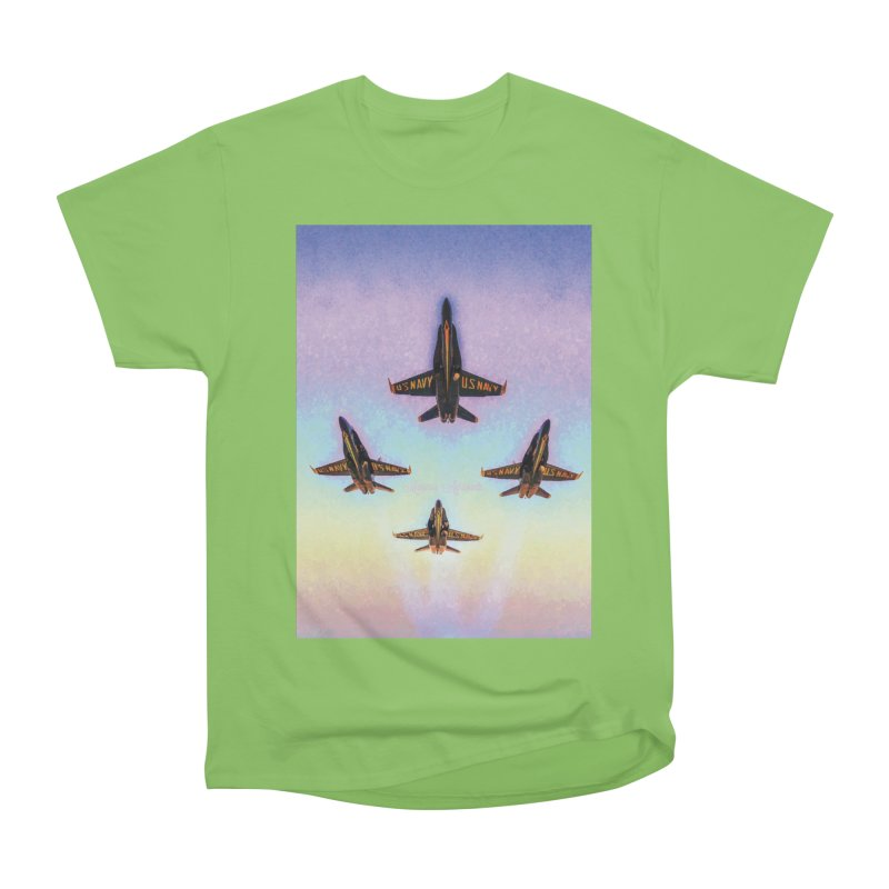 Blue Angels Squadron Women's Heavyweight Unisex T-Shirt by MariecorAgravante's Artist Shop