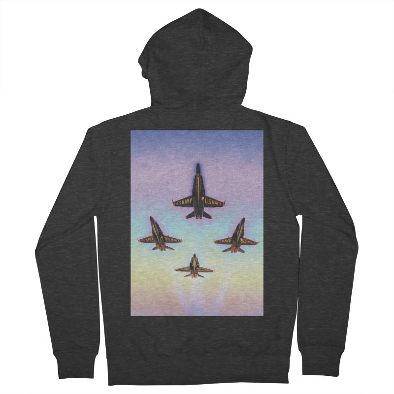 Blue Angels Squadron Women's French Terry Zip-Up Hoody by MariecorAgravante's Artist Shop