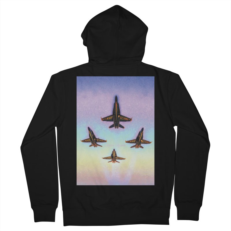 Blue Angels Squadron Women's Zip-Up Hoody by MariecorAgravante's Artist Shop