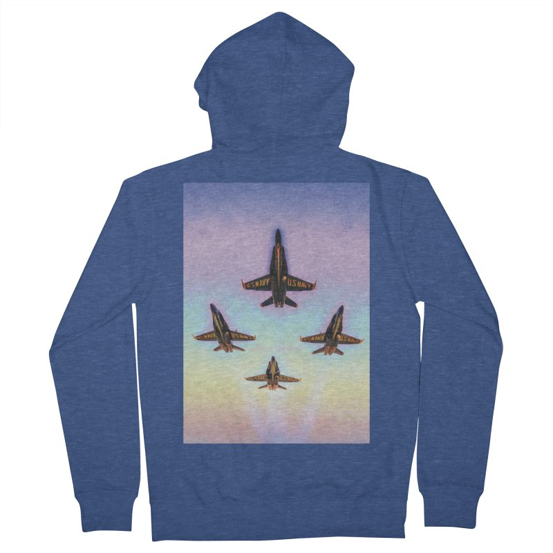 Blue Angels Squadron Men's French Terry Zip-Up Hoody by MariecorAgravante's Artist Shop