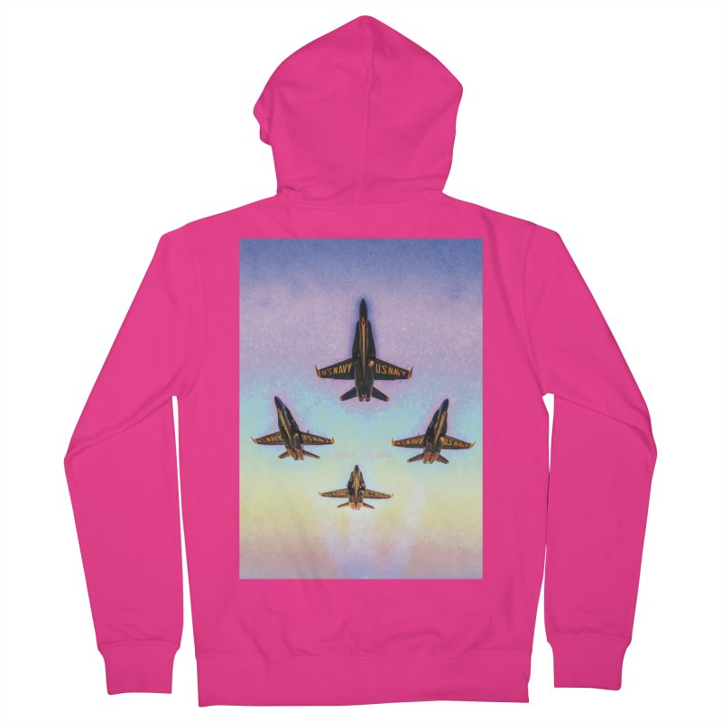 Blue Angels Squadron Men's Zip-Up Hoody by MariecorAgravante's Artist Shop