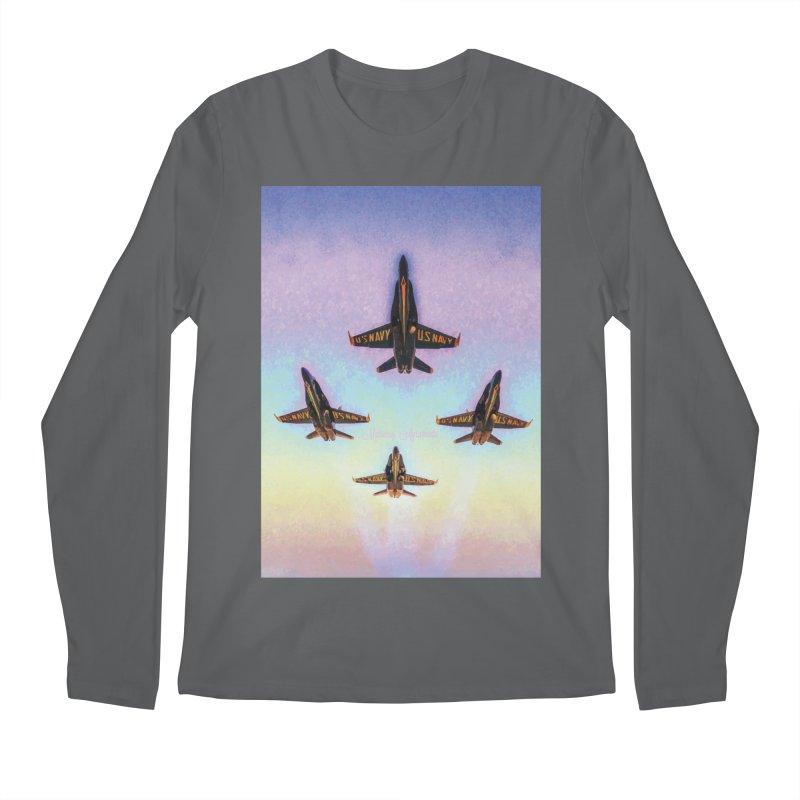 Blue Angels Squadron Men's Regular Longsleeve T-Shirt by MariecorAgravante's Artist Shop