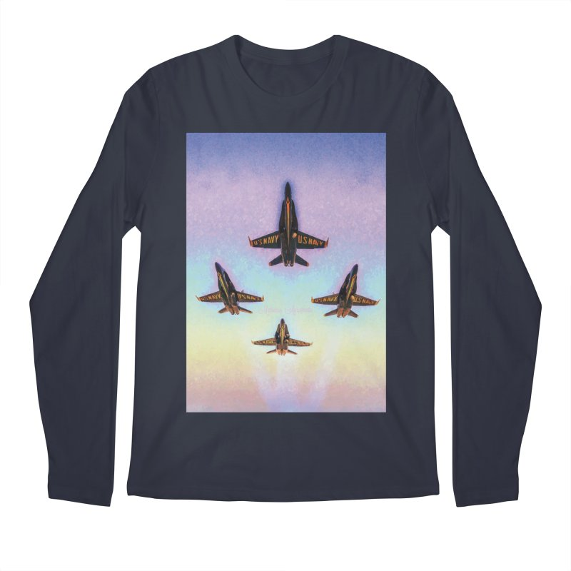 Blue Angels Squadron Men's Longsleeve T-Shirt by MariecorAgravante's Artist Shop