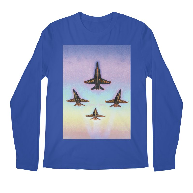 Blue Angels Squadron Men's Regular Longsleeve T-Shirt by MariecorAgravante's Artist Shop