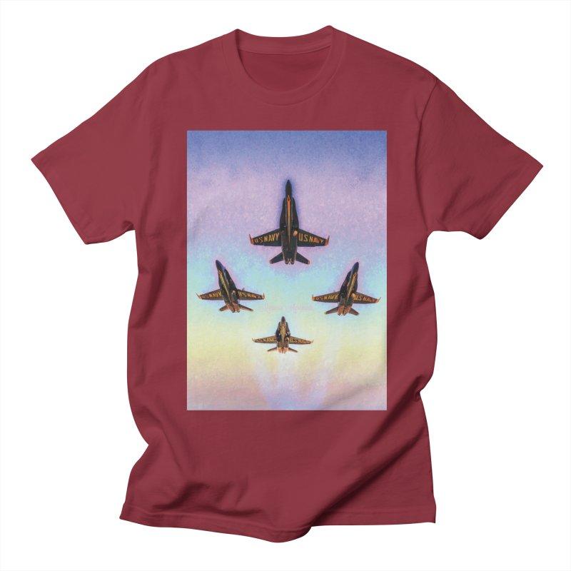 Blue Angels Squadron Men's Regular T-Shirt by MariecorAgravante's Artist Shop