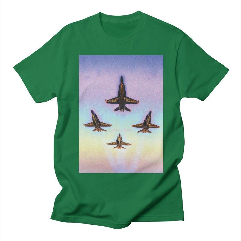 Blue Angels Squadron Men's T-Shirt by MariecorAgravante's Artist Shop
