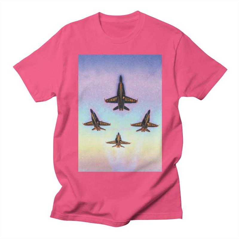 Blue Angels Squadron Men's Regular T-Shirt by MariecorAgravante's Artist Shop