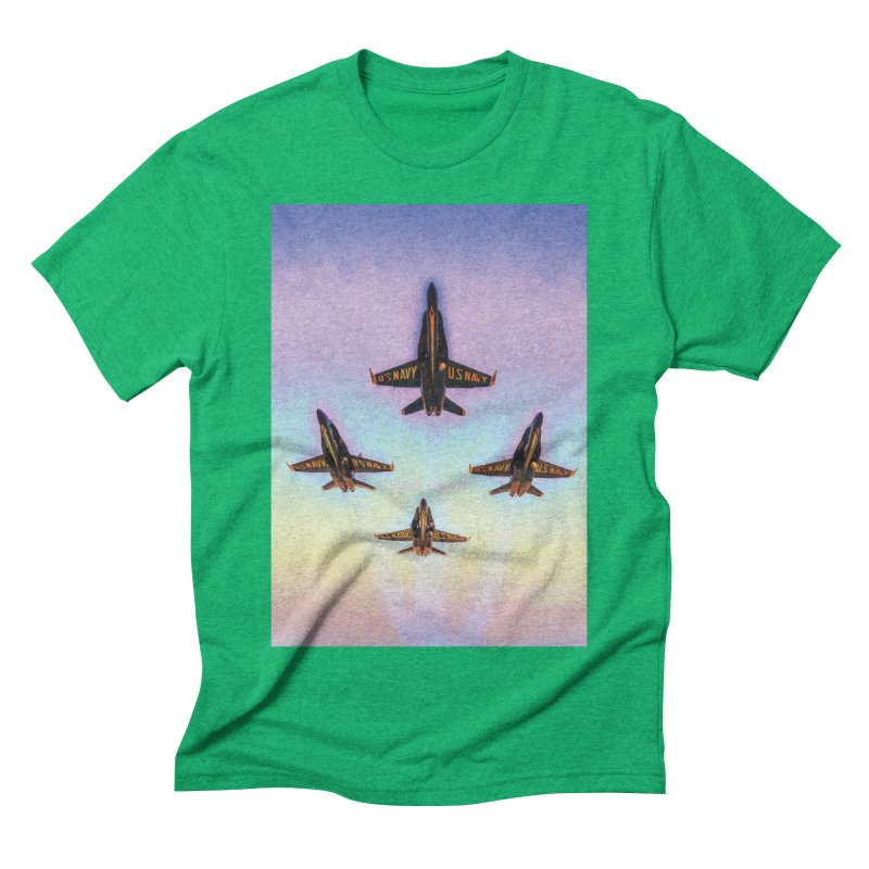 Blue Angels Squadron Men's Triblend T-Shirt by MariecorAgravante's Artist Shop