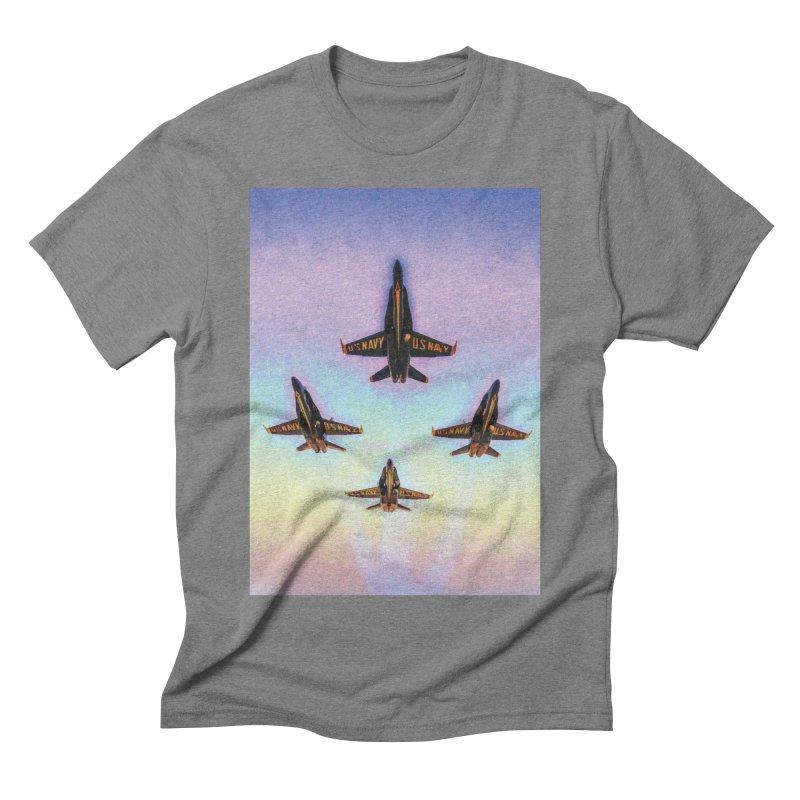 Blue Angels Squadron Men's Triblend T-Shirt by MariecorAgravante's Artist Shop