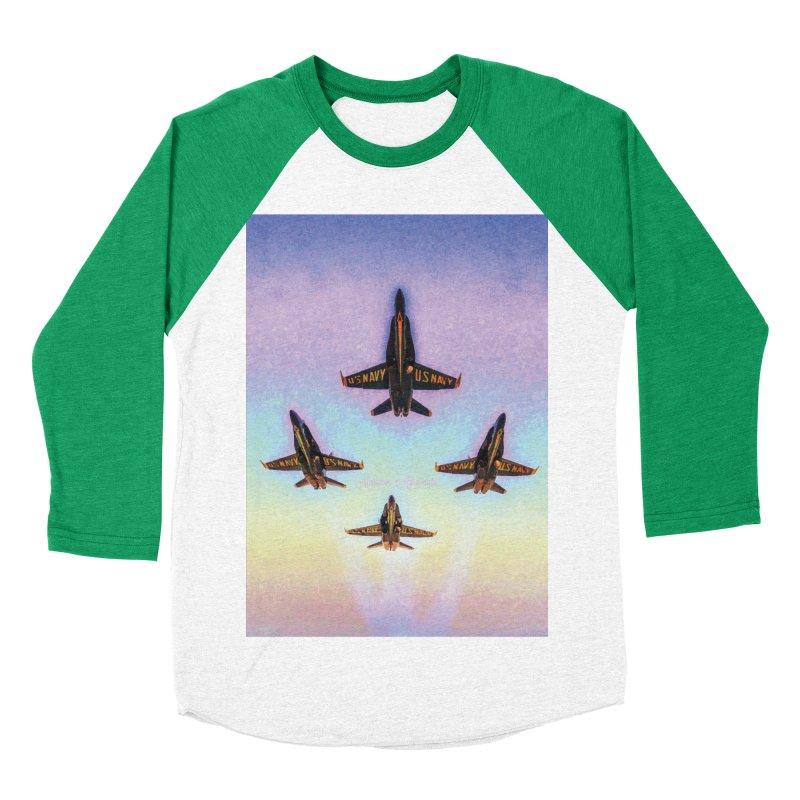 Blue Angels Squadron Women's Baseball Triblend Longsleeve T-Shirt by MariecorAgravante's Artist Shop
