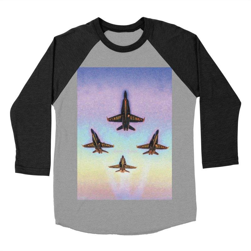 Blue Angels Squadron Men's Baseball Triblend T-Shirt by MariecorAgravante's Artist Shop