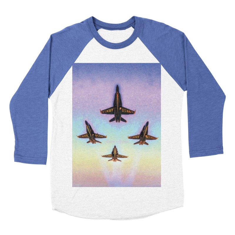Blue Angels Squadron Men's Baseball Triblend Longsleeve T-Shirt by MariecorAgravante's Artist Shop
