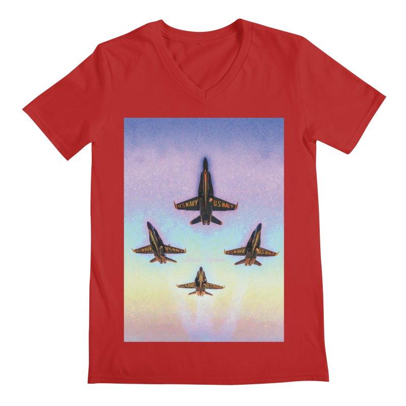 Blue Angels Squadron Men's V-Neck by MariecorAgravante's Artist Shop