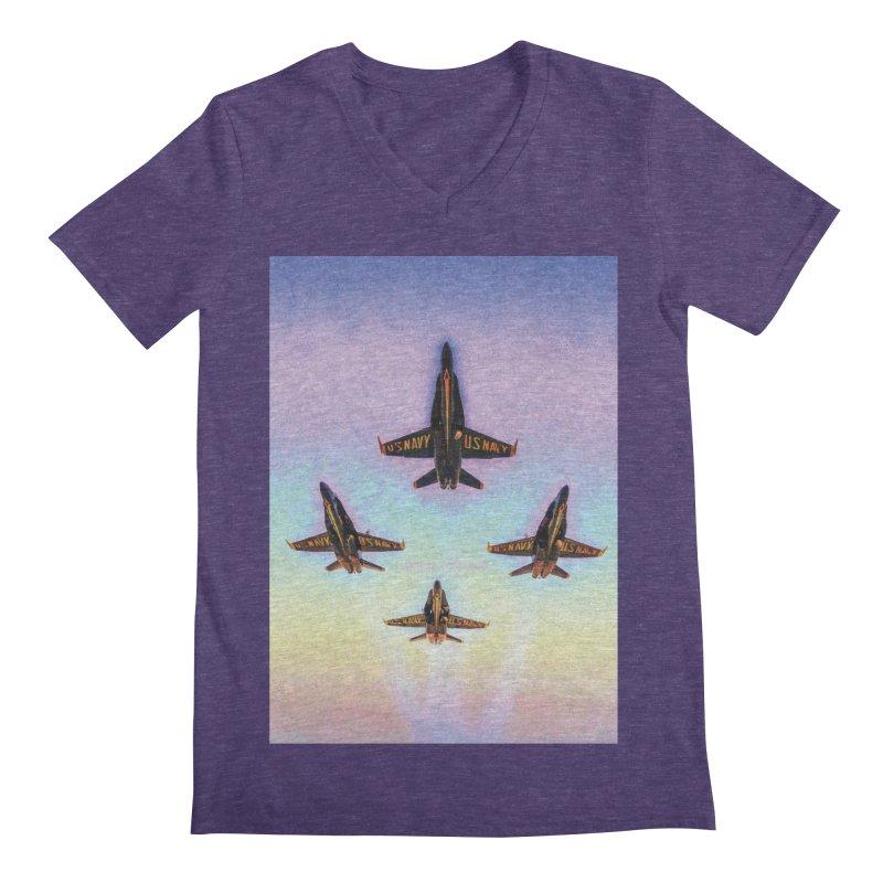 Blue Angels Squadron Men's Regular V-Neck by MariecorAgravante's Artist Shop