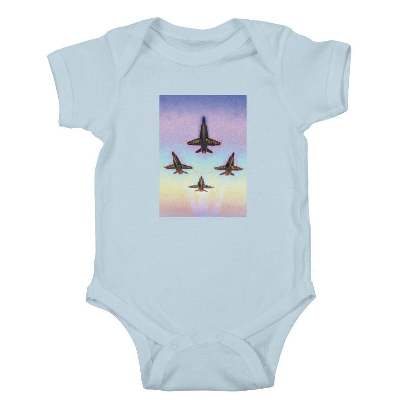 Blue Angels Squadron Kids Baby Bodysuit by MariecorAgravante's Artist Shop