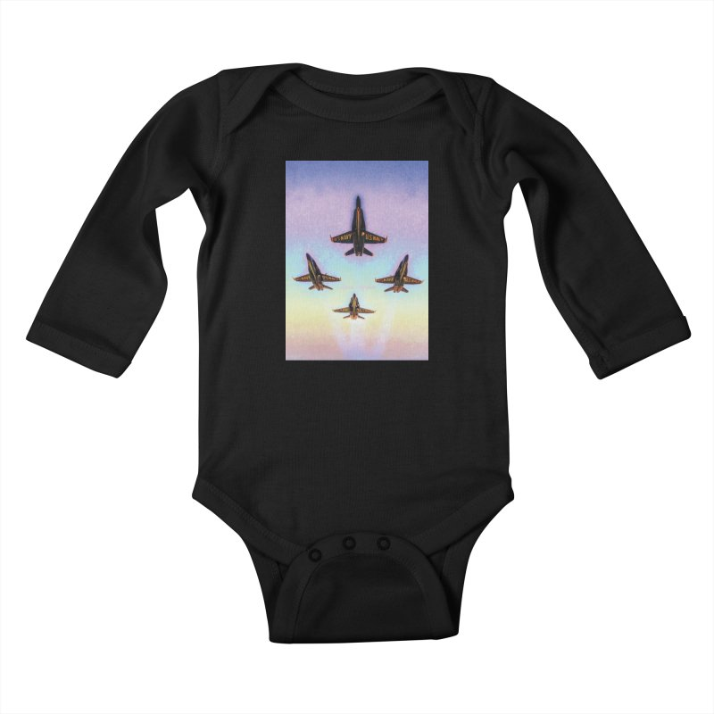 Blue Angels Squadron Kids Baby Longsleeve Bodysuit by MariecorAgravante's Artist Shop