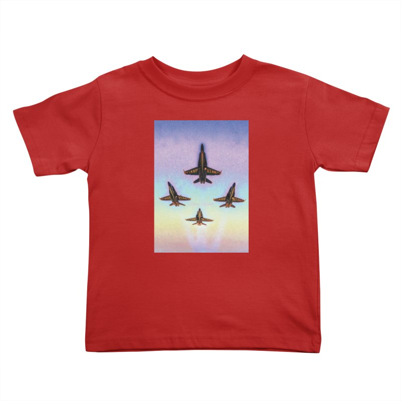 Blue Angels Squadron Kids Toddler T-Shirt by MariecorAgravante's Artist Shop