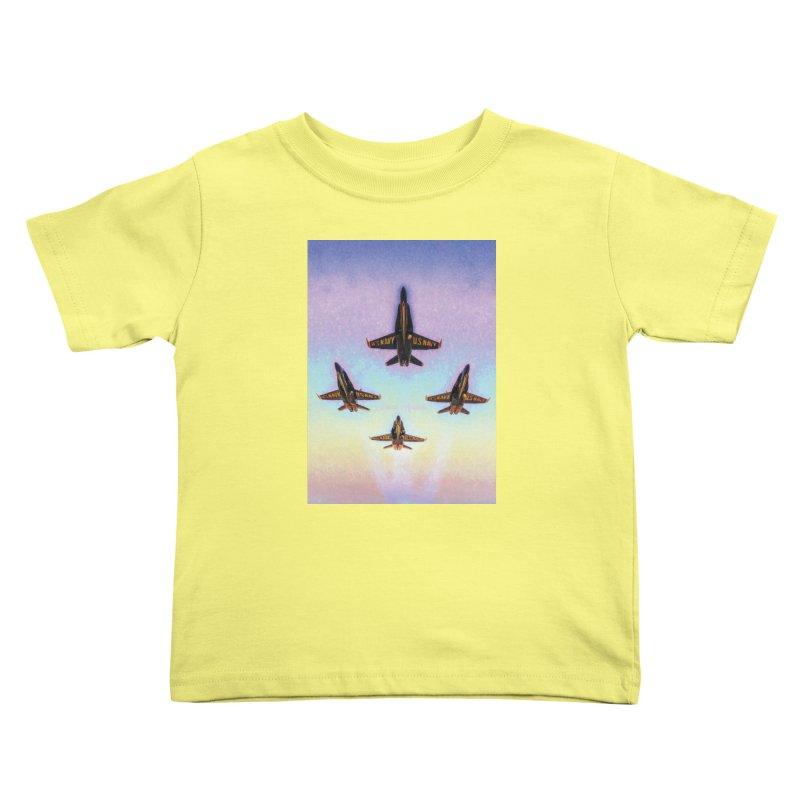 Blue Angels Squadron Kids Toddler T-Shirt by MariecorAgravante's Artist Shop