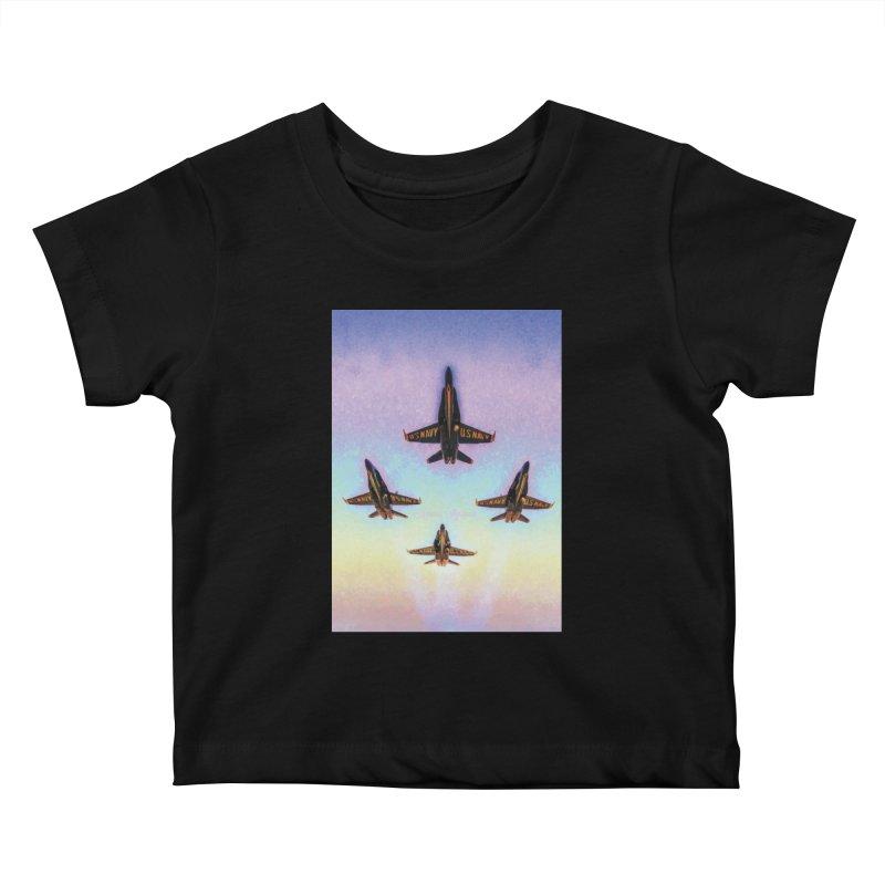 Blue Angels Squadron Kids Baby T-Shirt by MariecorAgravante's Artist Shop