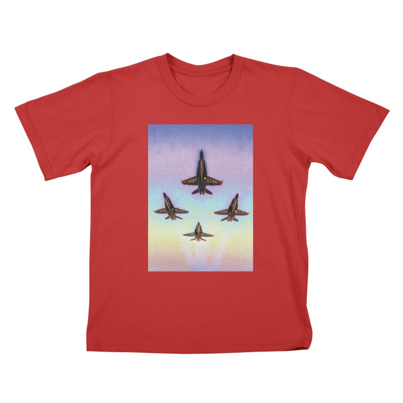 Blue Angels Squadron Kids T-Shirt by MariecorAgravante's Artist Shop