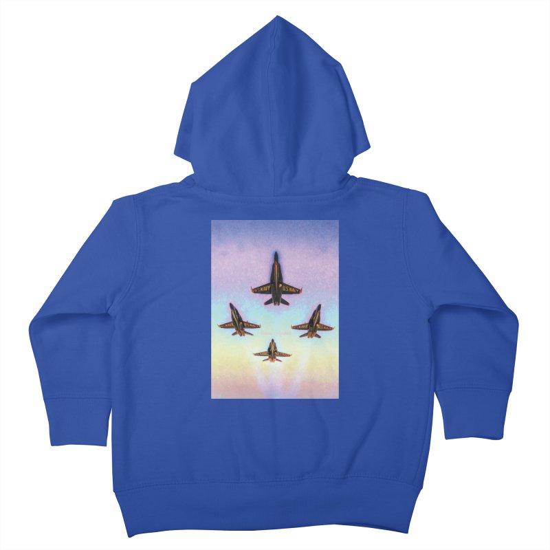 Blue Angels Squadron Kids Toddler Zip-Up Hoody by MariecorAgravante's Artist Shop