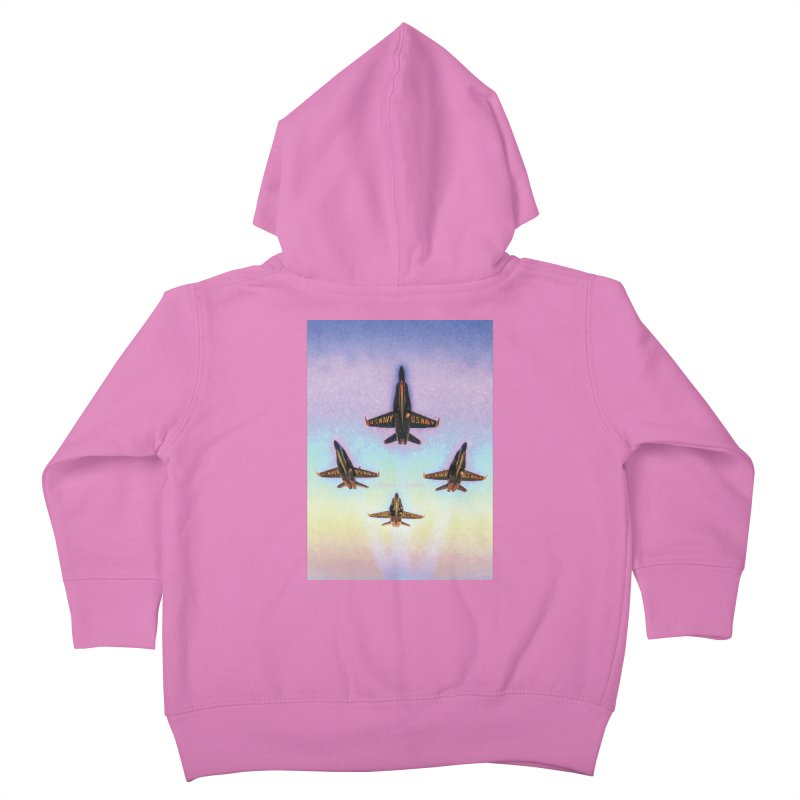 Blue Angels Squadron Kids Toddler Zip-Up Hoody by MariecorAgravante's Artist Shop