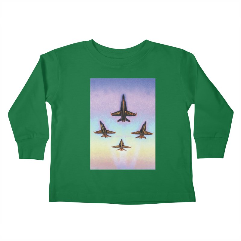 Blue Angels Squadron Kids Toddler Longsleeve T-Shirt by MariecorAgravante's Artist Shop