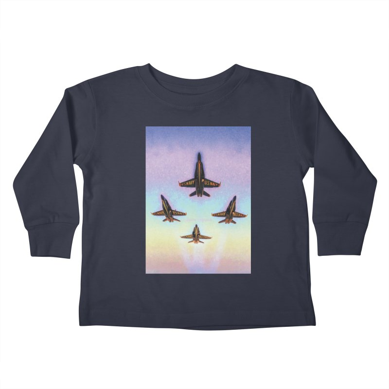 Blue Angels Squadron Kids Toddler Longsleeve T-Shirt by MariecorAgravante's Artist Shop