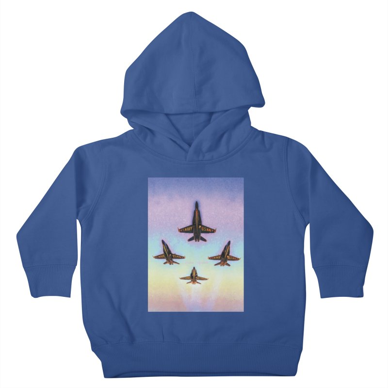 Blue Angels Squadron Kids Toddler Pullover Hoody by MariecorAgravante's Artist Shop