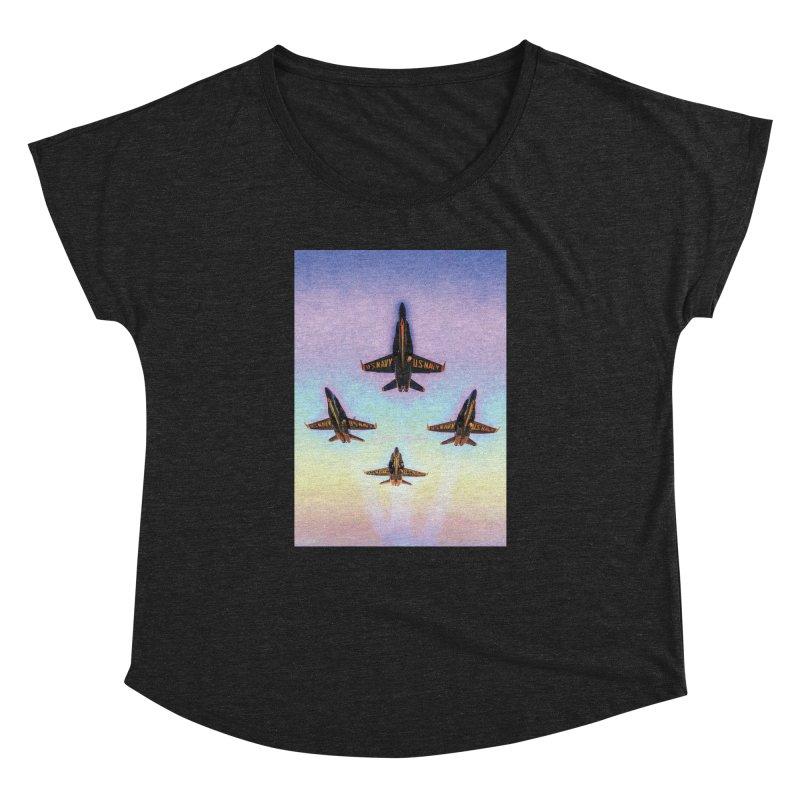 Blue Angels Squadron Women's Dolman Scoop Neck by MariecorAgravante's Artist Shop