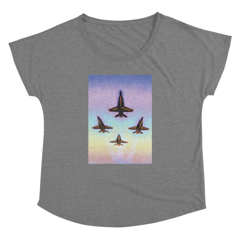 Blue Angels Squadron Women's Scoop Neck by MariecorAgravante's Artist Shop