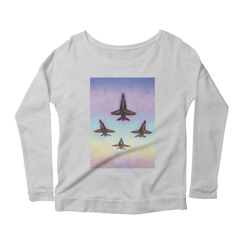 Blue Angels Squadron Women's Scoop Neck Longsleeve T-Shirt by MariecorAgravante's Artist Shop