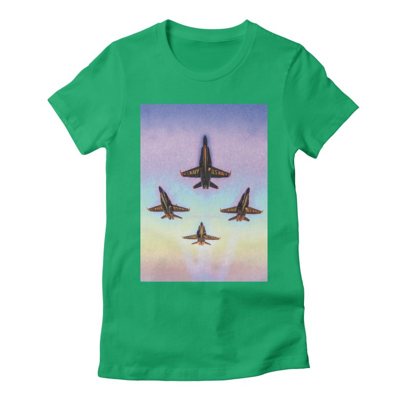 Blue Angels Squadron Women's Fitted T-Shirt by MariecorAgravante's Artist Shop