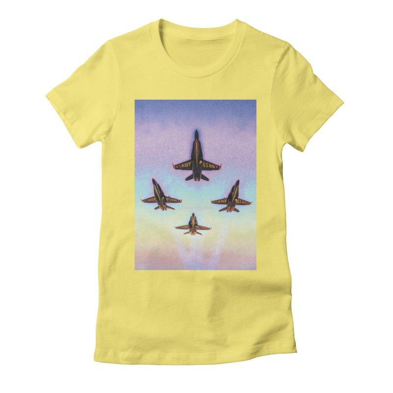 Blue Angels Squadron Women's Fitted T-Shirt by MariecorAgravante's Artist Shop