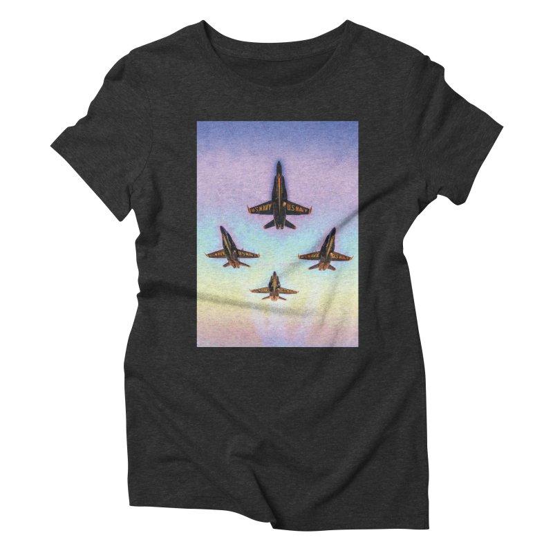 Blue Angels Squadron Women's Triblend T-shirt by MariecorAgravante's Artist Shop