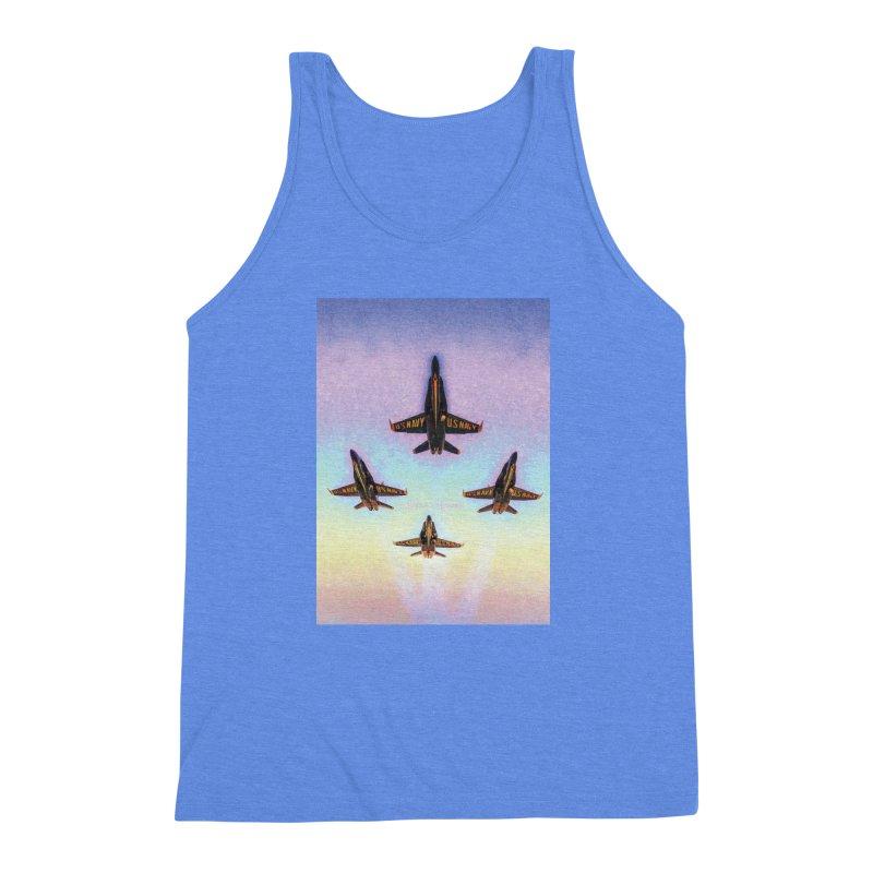 Blue Angels Squadron Men's Triblend Tank by MariecorAgravante's Artist Shop