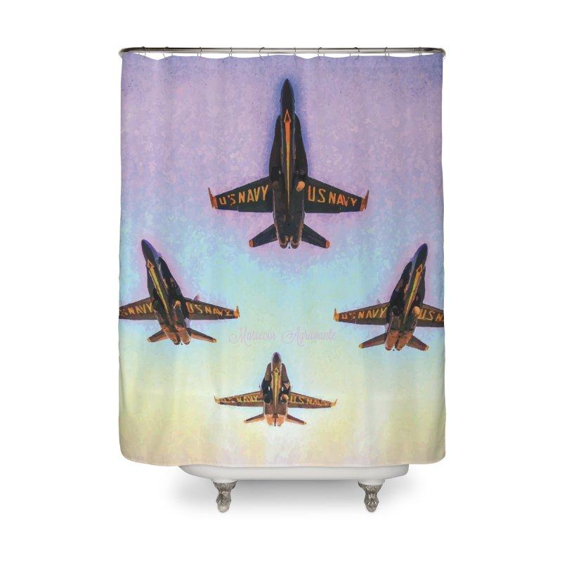 Blue Angels Squadron Home Shower Curtain by MariecorAgravante's Artist Shop