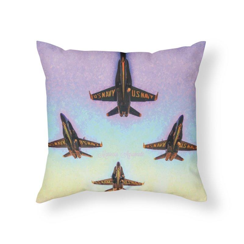 Blue Angels Squadron Home Throw Pillow by MariecorAgravante's Artist Shop