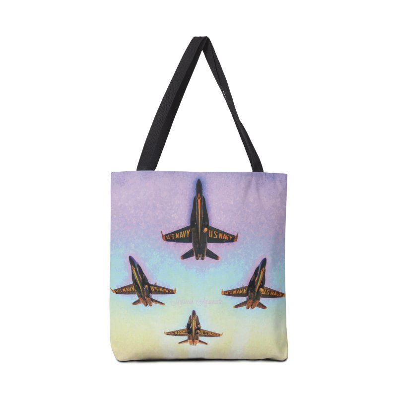 Blue Angels Squadron Accessories Tote Bag Bag by MariecorAgravante's Artist Shop
