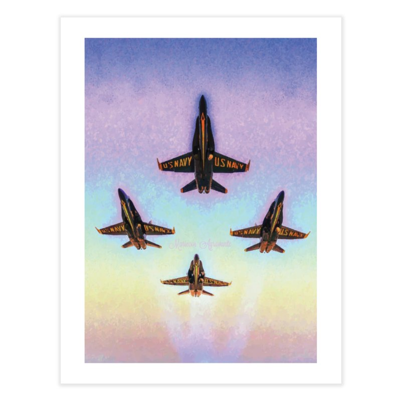 Blue Angels Squadron Home Fine Art Print by MariecorAgravante's Artist Shop